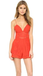Saylor Abbey Romper Red