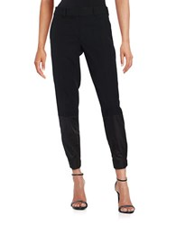 Dkny Contrast Ankle Cuff Dress Pants Black