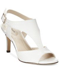 Styleandco. Style And Co. Saharii T Strap Dress Sandals Only At Macy's Women's Shoes White