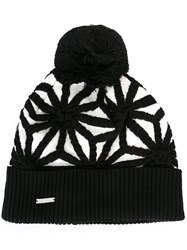 Dsquared2 Japanese Star Knit Hat Black