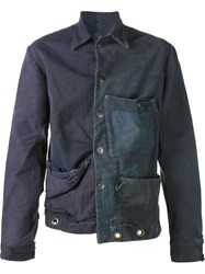 Greg Lauren One Of A Kind Jacket Blue