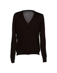 Vneck Cardigans Dark Brown