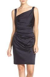 Vera Wang Women's Asymmetrical Satin Sheath Dress