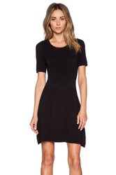 Central Park West Fresno Fit And Flare Dress Black