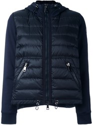Moncler Padded Front Hoodie Blue