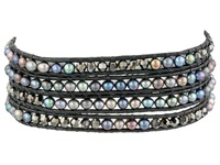 Chan Luu 32' Pewter Mix Gunmetal Wrap Bracelet Pewter Mix Gunmetal Bracelet Multi