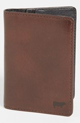 Will Leather Goods Men's 'Clyde' Front Pocket Wallet Brown