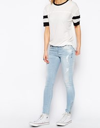 Tommy Hilfiger Hilfiger Denim Natalie Skinny Jeans With Ripped Knees Lightbluedenim