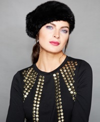 The Fur Vault Knitted Mink Fur Beret