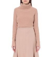 Valentino Turtleneck Wool And Cashmere Jumper Beige