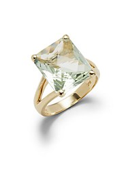 Effy Green Amethyst In 14K Yellow Gold Basket Ring