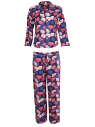 Cyberjammies Winter Flower Pyjama Set Blue Orange