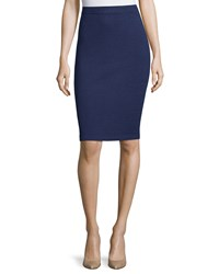 St. John Santana Pull On Pencil Skirt Ink
