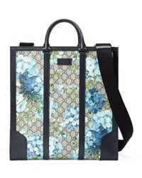 Gucci Gg Blooms North South Tote Blue