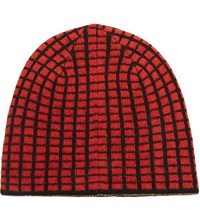 Opening Ceremony Reversible Knit Beanie Bei Red Check