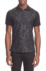 Men's Just Cavalli Reptile Print Polo