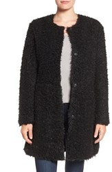 Via Spiga Women's Reversible Faux Fur Coat Black