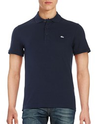 Lacoste Slim Fit Stretch Polo Navy Blue