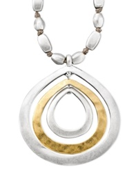 Kenneth Cole New York Necklace Two Tone Mixed Metal