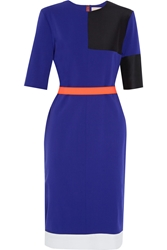 Roksanda Ilincic Ellery Color Block Twill Dress Black