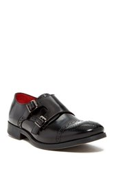 Base London Napier Monk Strap Oxford Black