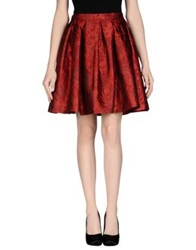 Charlott Knee Length Skirts Red