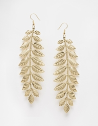 Paper Dolls Leaf Drop Earrings Gold
