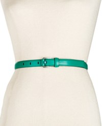 Calvin Klein Feather Edge Stitch Belt Ultramarine Nickle