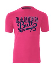Raging Bull College T Shirt Pink