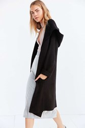 Kimchi And Blue Bleeker Hooded Longline Sweater Coat Black