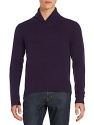 Saks Fifth Avenue Cashmere Shawl Collar Sweater Coffee