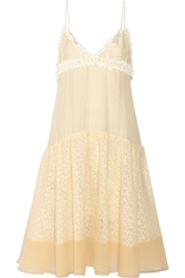 Rochas Layered Chiffon And Organza Dress
