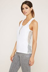 Forever 21 Active Mesh Paneled Top