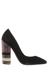 Giambattista Valli Sequined Pumps Black