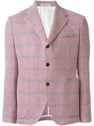 Al Duca D'aosta 1902 Patch Pocket Blazer Pink And Purple