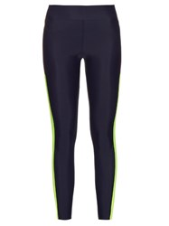 Laain Contrast Panel Performance Leggings Navy Multi