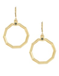 Louise Et Cie Graphic Organics Octagonal Gypsy Earrings Gold