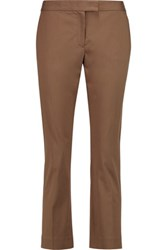 Joseph Queen Twill Straight Leg Pants Taupe