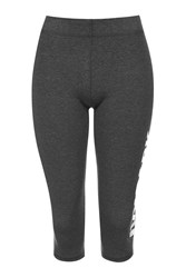 Ivy Park Capri Logo Leggings By Grey Marl
