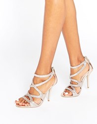 Carvela Grove Strappy Bronze Heeled Sandals Bronze Synthetic Copper