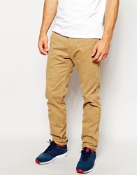 Replay Chinos Slim Fit Washed Gabardine Beige