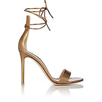 Gianvito Rossi Women's Extended Counter Ankle Tie Sandals Yellow