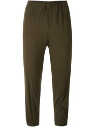 Scanlan Theodore Stretch Silk Cuffed Pants Green