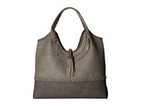 Steve Madden Jkhloe Hobo Leather Trim Grey Hobo Handbags Gray