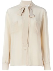 Golden Goose Deluxe Brand Pussy Bow Blouse Nude And Neutrals