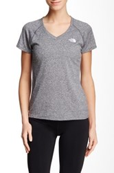 The North Face Reaxion Amp V Neck Tee Gray
