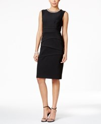 Connected Petite Embellished Sheath Dress Black