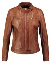 Oakwood Leather Jacket Cognac Camel