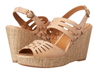 Trask Willow Tan Italian Calfskin Women's Wedge Shoes