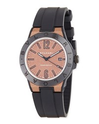 Bulgari 41Mm Diagono Magnesium Watch Coral Black Bvlgari